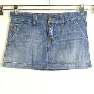 Abercrombie And Fitch Denim Jean Mini Skirt
